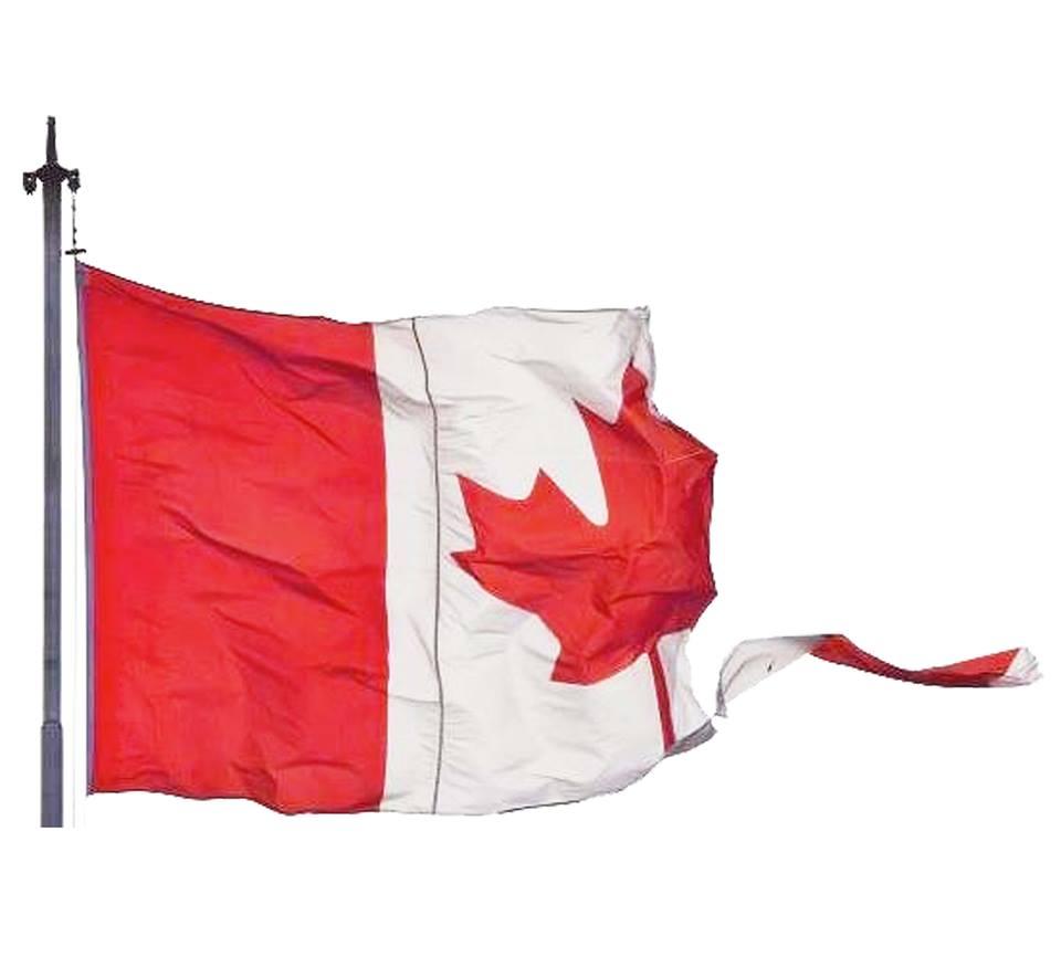 加拿大國旗破掉了
