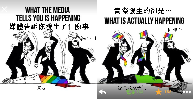 媒體說的和真實狀況不一樣,事實上是台灣的家長及孩子們被同運團體給霸凌了。