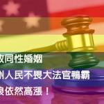 不畏大法官判決 民眾反同婚意見高漲
