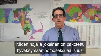 美國集體反抗同性婚姻組織的錄影帶以芬蘭語、瑞典語和愛沙尼亞語在芬蘭全國電視台播出。