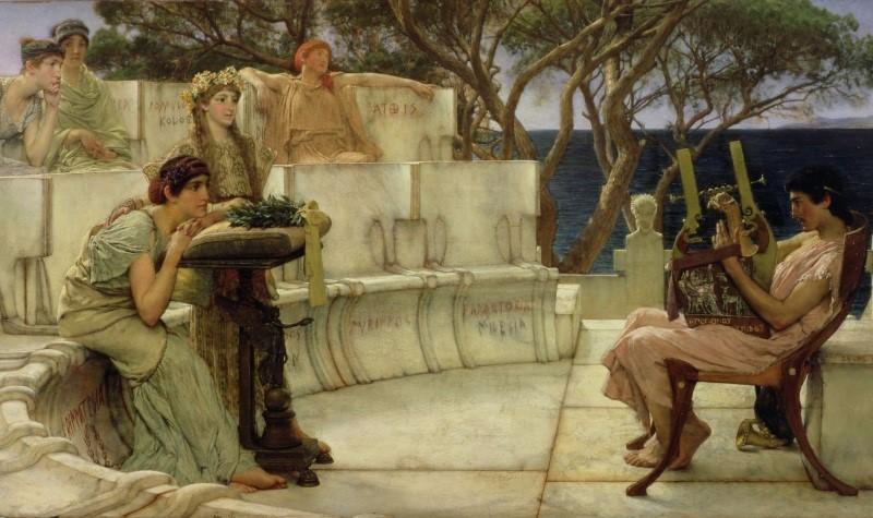 同運指稱許多古今傑出的藝術家(畫家)都是同性戀者,圖為畫家筆下的古希臘同性戀者。(照片來源:zh.wikipedia.org)